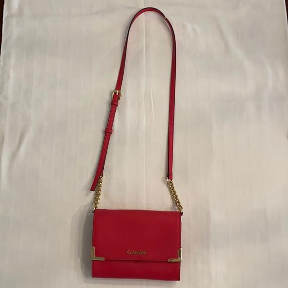 Calvin Klein poppy red crossbody bag